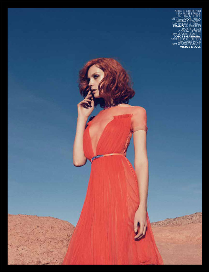 heather marks5 Heather Marks by Paul Schmidt for Marie Claire Italia May 2012