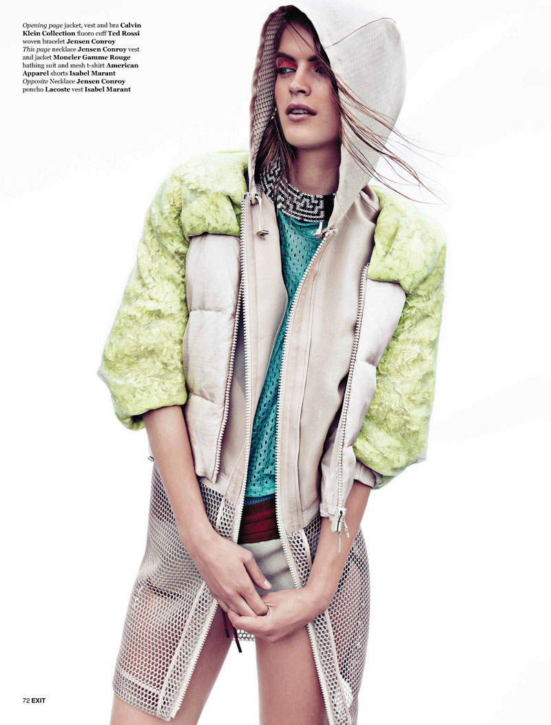 mirte maas2 Mirte Maas Has a Sportswear Outing for Exit Magazine, Shot by Steven Pan