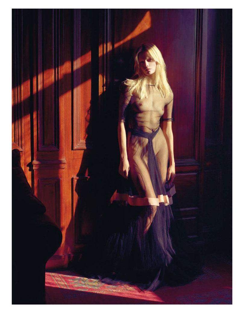 natasha poly9 Natasha Poly is Sexy in Sheer for Mario Sorrentis Vogue Paris Story