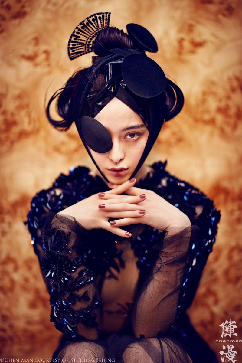 fan bing bing2 Fan Bingbing Poses for Chen Man in Embellished Style for i Ds Fall 2012 Issue