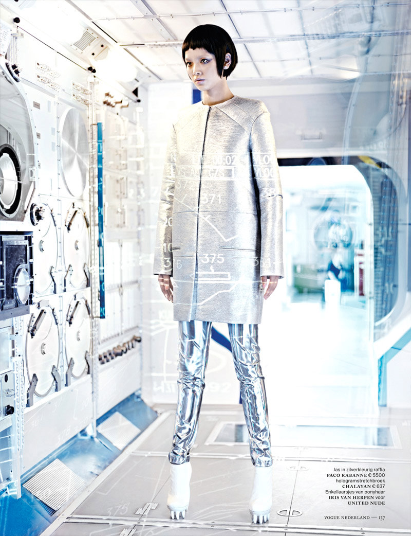 Shenzhou03 Grace Guozhi is a Vision of the Future in Vogue Netherlands September 2012 by Marc de Groot