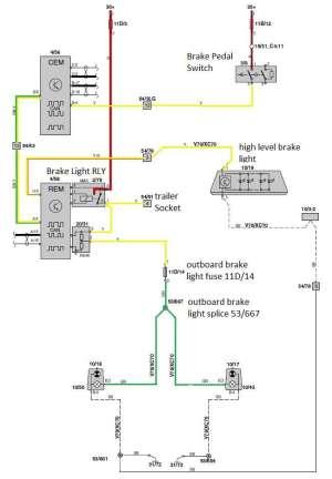 2002 V70 d5 auto brake light issue
