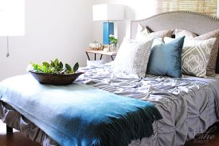 Gray and aqua for Fall decor