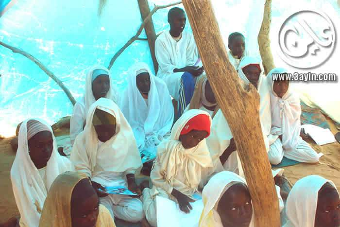فصل في باحدى مدارس كلبس بغرب دارفور