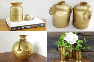 Brass vase decor idea