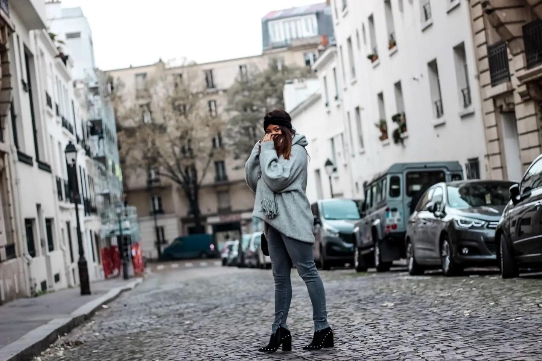 the green ananas, blog mode, blogueuse mode, shein, boots clous, hm, pull loose, jean femme, bandeau velours, zara, bandeau zara, doudoune argenté, pinterest, silver