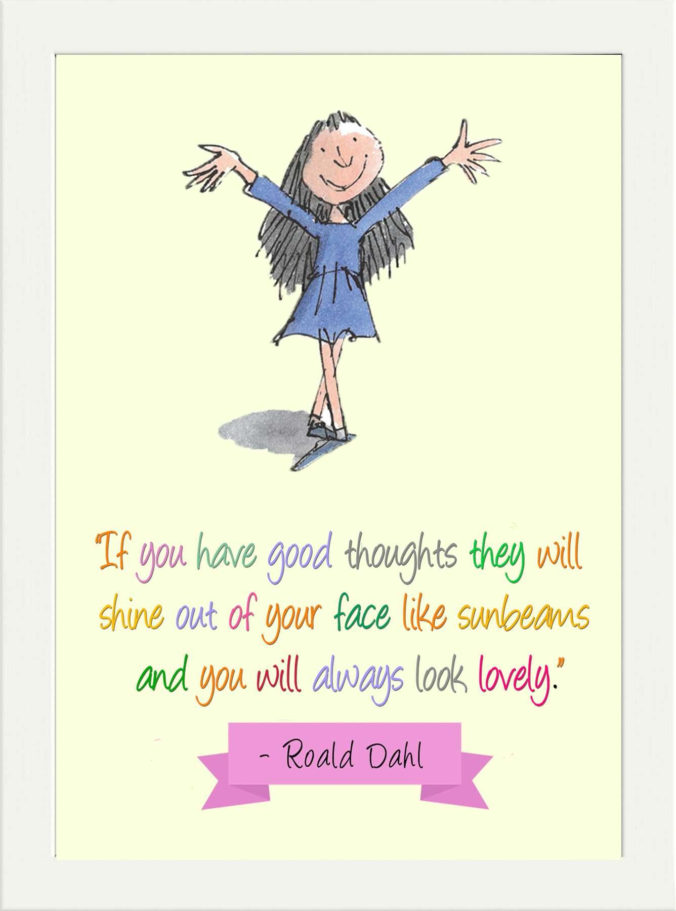 Inspirational Roald Dahl Matilda Home Quote Childrens Kids