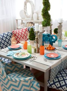 dinner table plates trends spring 2013