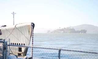 San Francisco, California, tourists, Alcatraz, fisherman's wharf, architecture, vintage, old, antique