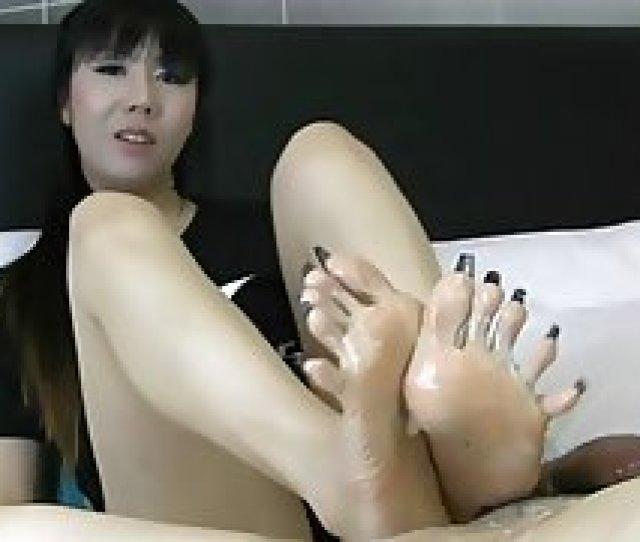 Asian Long Toenail Footjob Amateur Foot Fetish Footjob Asian
