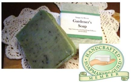 We are now members of the Handcrafted Soapmakers Guild.
