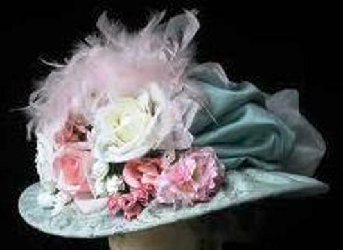 just an example of the amazing array of victorian hats that will be worn to the tea.