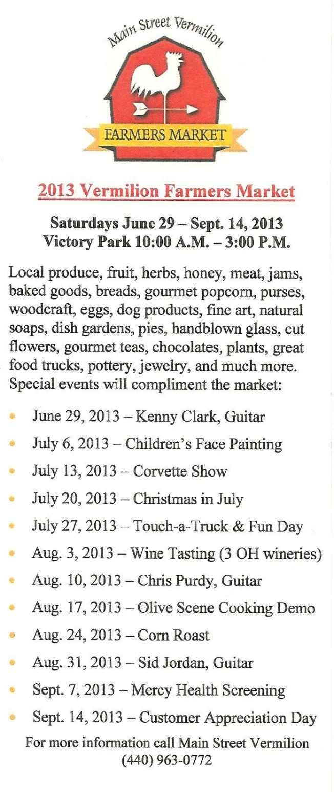 Vermillion Market Events 2013