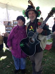 The bug guy stopped and sang to us in our eco market tent.