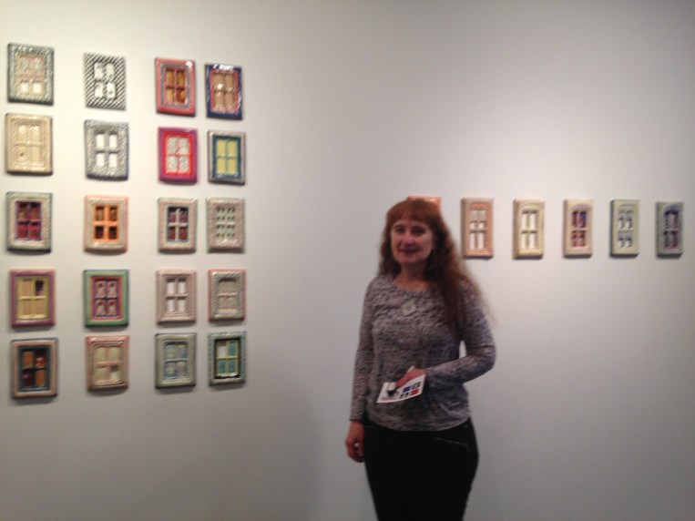 Theresa Yondo was featured in a 30 days to create gallery display. Her ceramics are windows...beautiful details