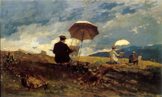 "Winslow Homer's ""Painting the mountains"""