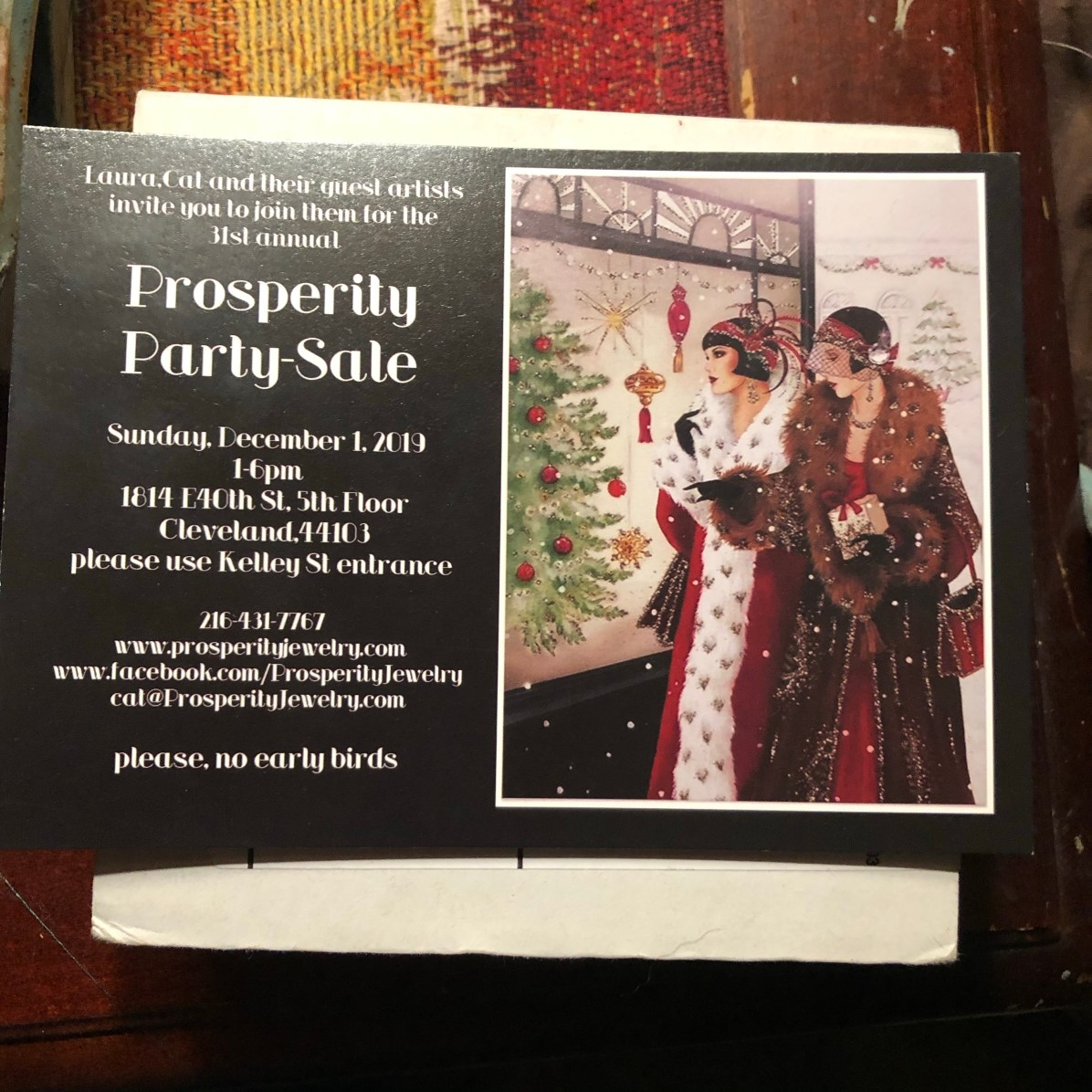 Visit us at our friend's studio party and sale... lots of great art, live music, great food and libation. Plus you have to meet Kat and Laura, the hostesses and studio owners.