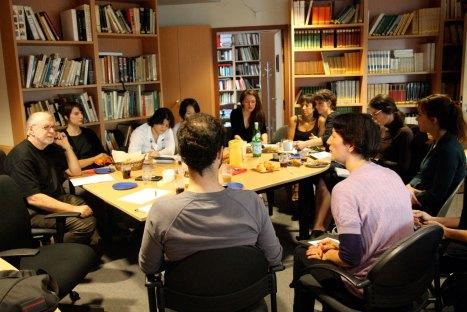 Septembre 2009, atelier à l'INHA.