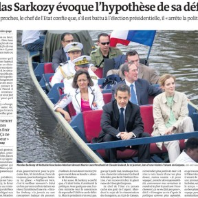 "8. Le Monde, ""Nicolas Sarkozy évoque l'hypothèse de sa défaite"", 25/01/2012."