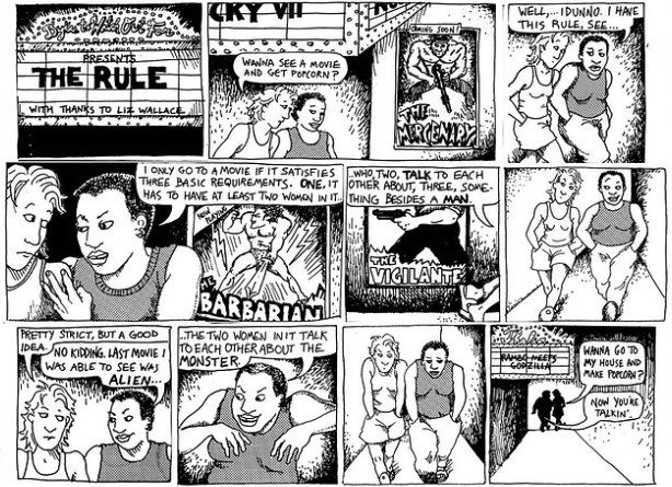Alison Bechdel, The Rule, 1985.