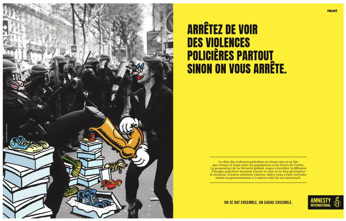 Amnesty international, montage à partir d'une photo de Jan Schmidt-Whitley, novembre 2020.