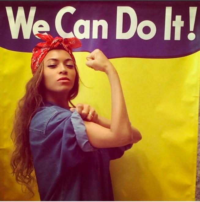 Beyoncé en Rosie, Instagram, 22/07/2014.