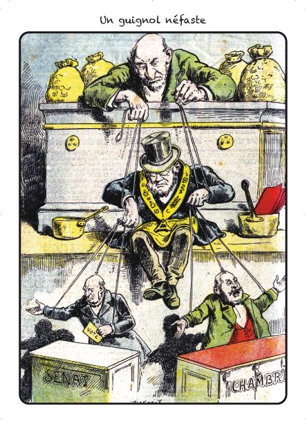 Carte postale antimaçonnique, v. 1900.