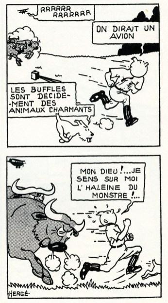 Tintin au Congo, 1931.