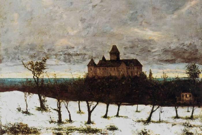 Courbet, Chateau de Blonay, v. 1873.