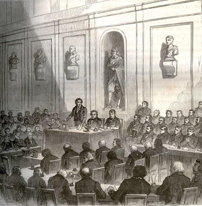 Arago annonce la découverte de Daguerre, dans la séance publique de l'Académie des sciences