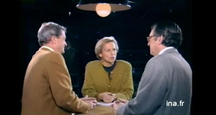 France 3, A la Une sur la 3, avec Philippe Alexandre et Serge July, 2 novembre 1992 (Ina, copie d'écran).