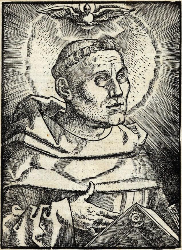 Hans Baldung, portrait de Luther, 1521.