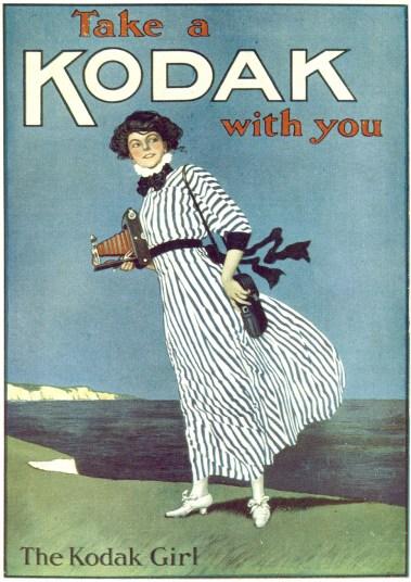 Kodak Girl, publicité, 1910.