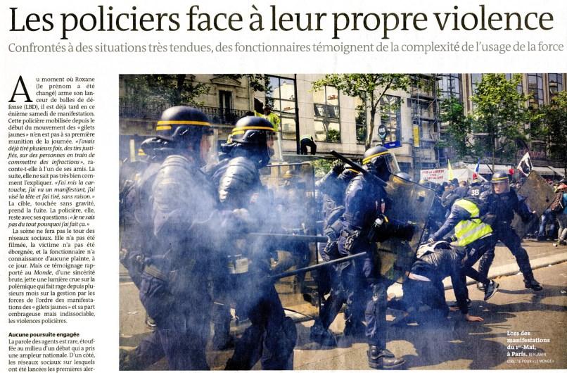 Le Monde, 14/05/2019, photo Benjamin Girette.