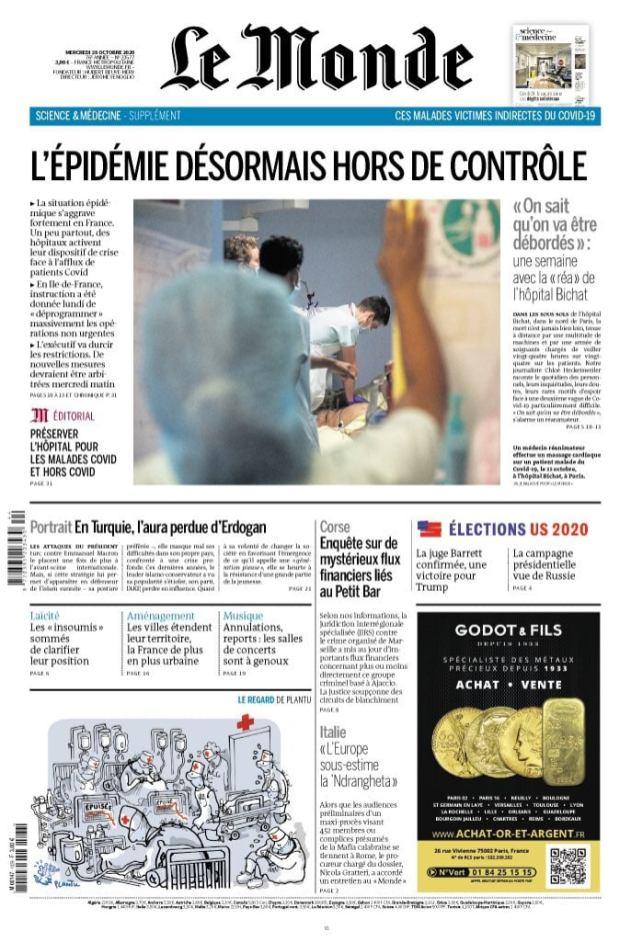 Le Monde, 28/10/2020.