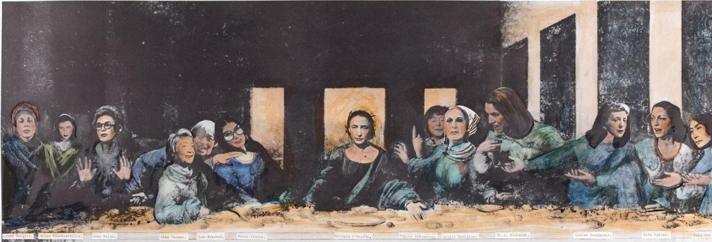Mary Beth Edelson, Some Living American Women Artists/Last Supper, 1972.