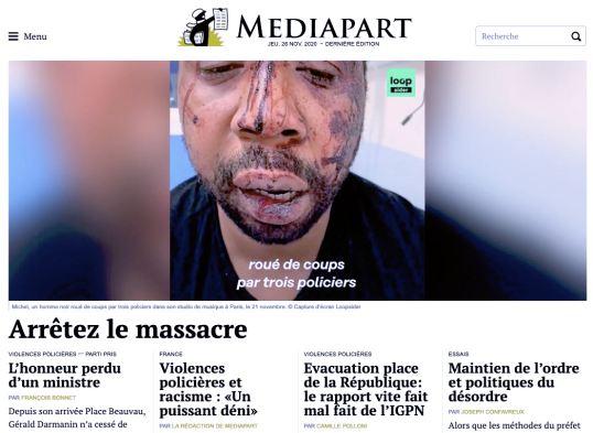 Mediapart, 26/11/2020.