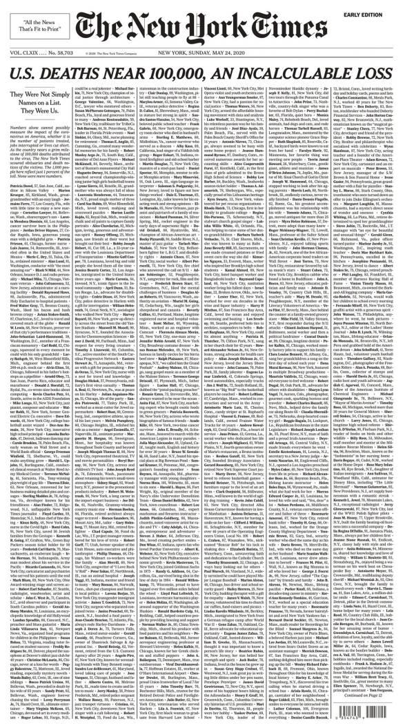 New York Times, 24/05/2020.