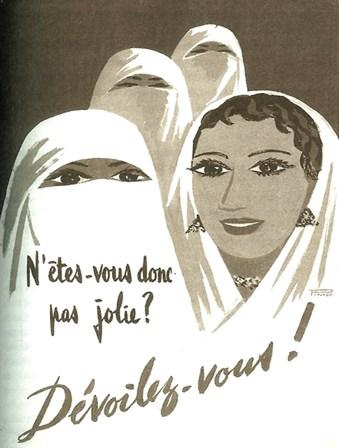 Affiche de propagande, Algérie, période coloniale.