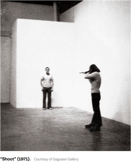 New Republic, Shoot, Chris Burden, 1971.