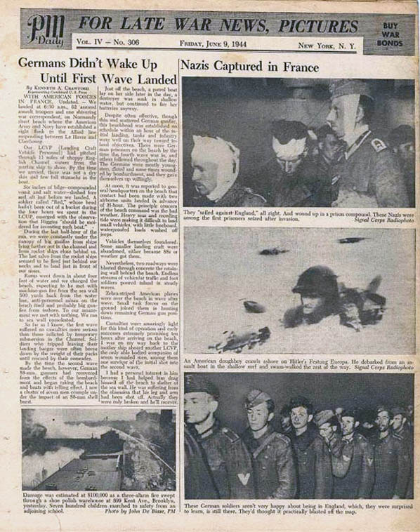 PM Daily, 9 juin 1944.