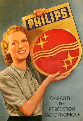 Publicité Philips, 1950.