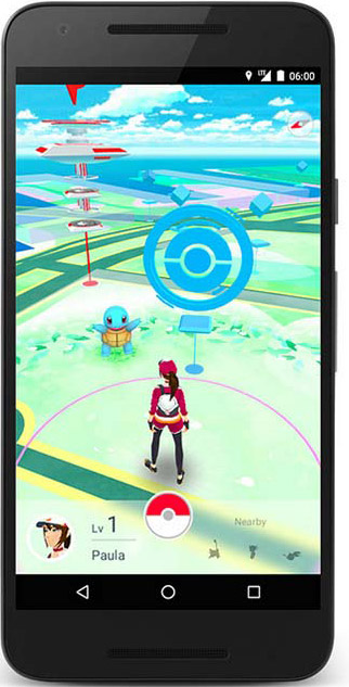 Jeu Pokemon Go.
