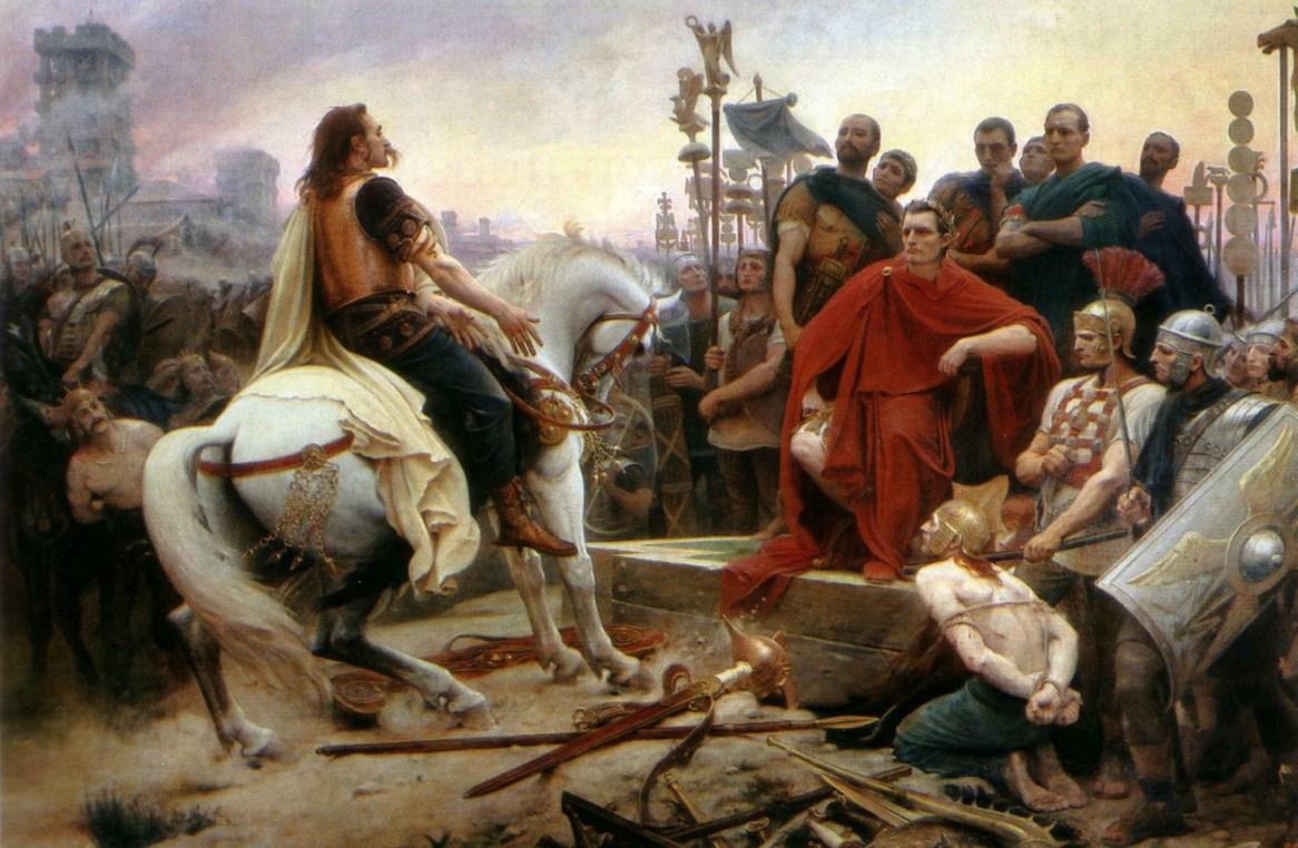 Royer, Vercingétorix jetant ses armes aux pieds de César, 1899.