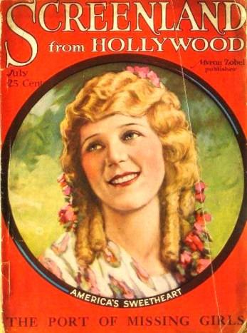 Screenland, Mary Pickford, 1923.