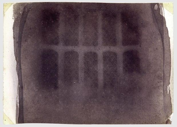 Talbot, fenêtre, Lacock Abbey, négatif, 1835.