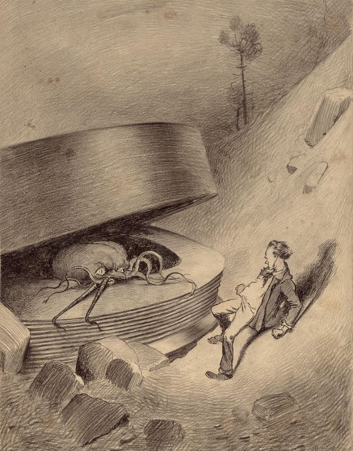 Alvim Corréa, illustration de La Guerre des Mondes, 1906.