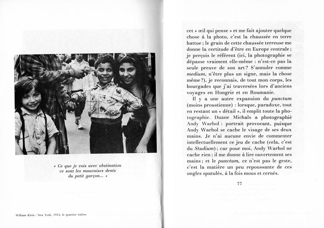 Pour une analyse narrative des images sociales l 39 image for Chambre claire roland barthes