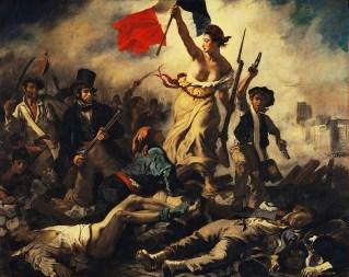 Delacroix, La Liberté guidant le peuple, 1830.