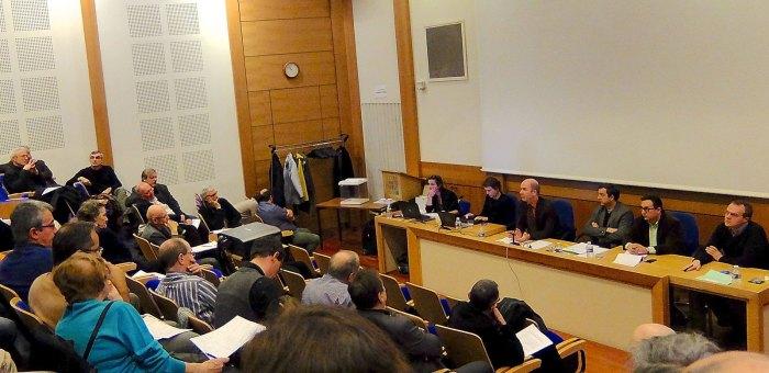 Réunion de l'assemblée des enseignants de l'EHESS, 29/11/2014.